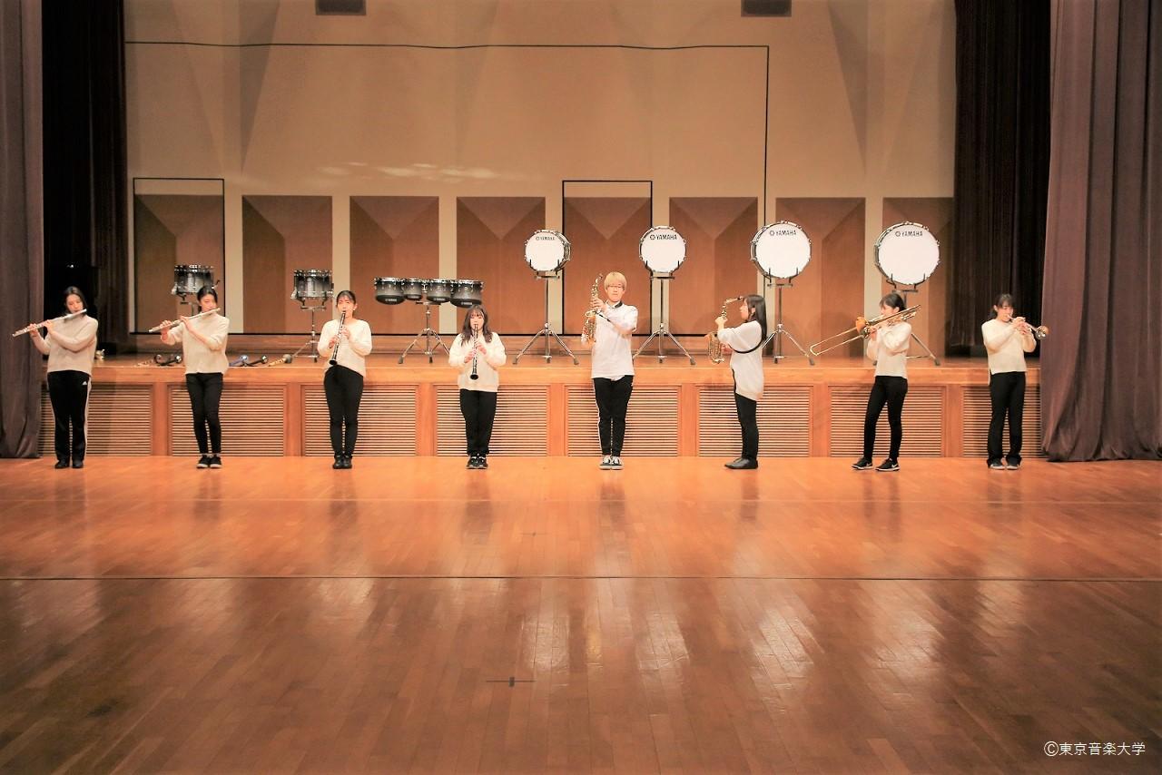 吹奏楽アカデミー専攻「マーチング概論Ⅰ-Ⅱ」、声楽専攻「舞台基礎入門講座」の授業レポート