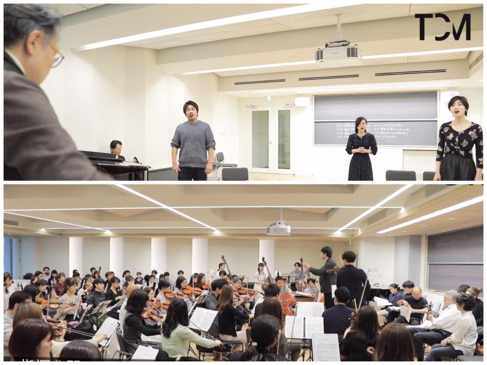 声楽専攻と作曲指揮専攻の授業ムービーを2本アップしました